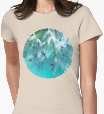 Turquoise Dandy Delight Womens Fitted T-Shirt