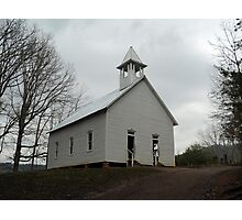 Country Church in the Smokies Photographic Print