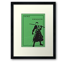 Zoro Framed Print