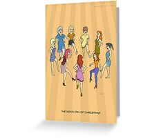 The Ninth Day of Christmas (9 Ladies Dancing) Greeting Card