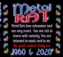 1960 2020 Chinese zodiac born in year of Metal Rat by Valxart.com by Valxart