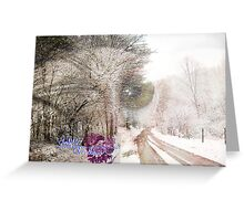 dreaming in winter Greeting Card