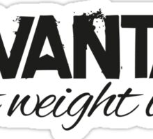 Levantar - Light weight baby (Black) Sticker