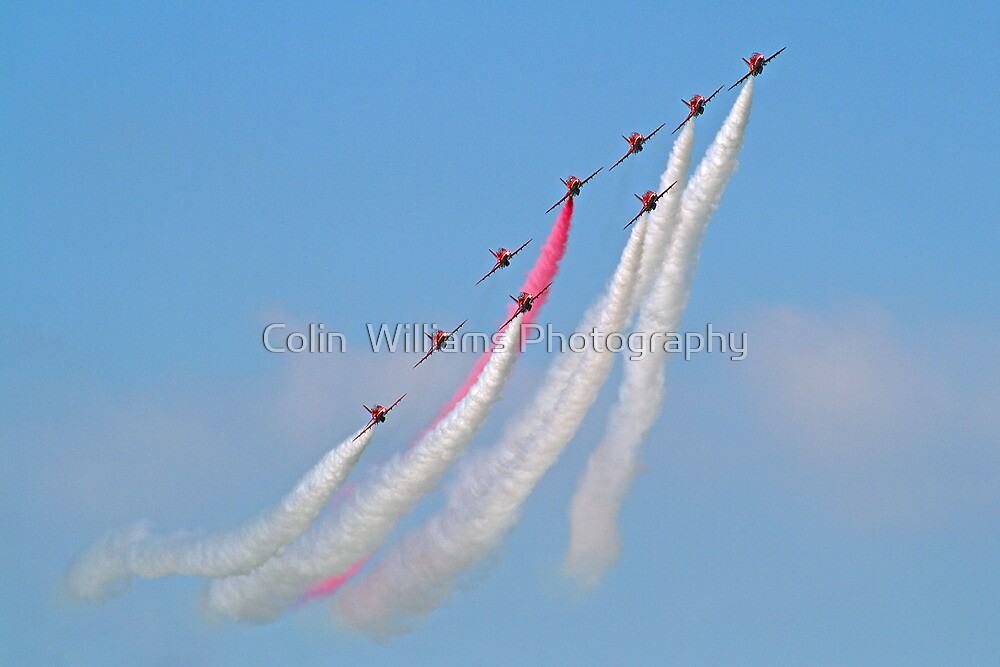 Hey Mr Blue Sky !! - The Red Arrows - Dunsfold 2013 by Colin  Williams Photography