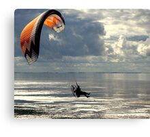 Powered Paraglider Canvas Print