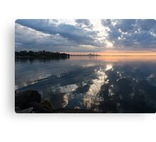 Clouds, and Clouds and Toronto Skyline at Sunrise Canvas Print