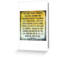 Art is Life Greeting Card