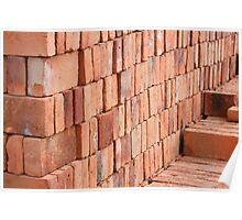 Adobe Bricks Drying in the Sun Poster