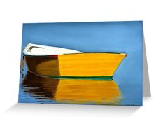 Boat Reflection Pastel Greeting Card