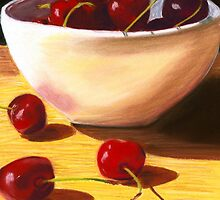 Bowl of Cherries Pastel by AngelaBishop