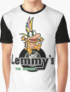 Mario Kart 8 Lemmy's Tire Service Square Graphic T-Shirt