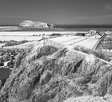 Uphill - looking towards Brean Down by Antony R James
