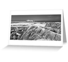 Uphill - looking towards Brean Down Greeting Card