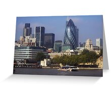 A foggy day, in London town Greeting Card