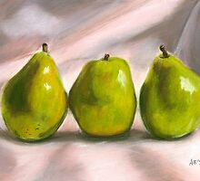 Pears Pastel by AngelaBishop