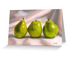 Pears Pastel Greeting Card