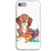 Water color Christmas illustration. iPhone Case/Skin