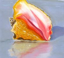Shell on the Shore Pastel by AngelaBishop