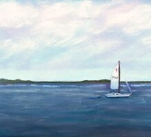 Smooth Sailing Pastel by AngelaBishop