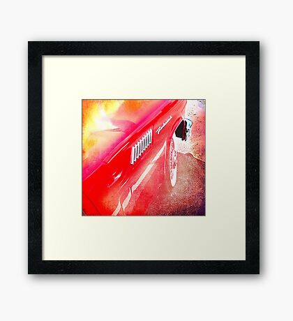 Hot Wheels Thunderbird Framed Print