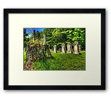 Mt. Repose Cemetery, Montville, Maine Framed Print