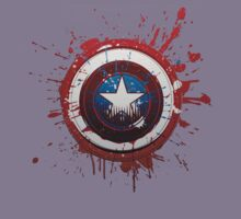 CAPTAIN AMERICA BLOODY SHIELD T-SHIRT by melezz