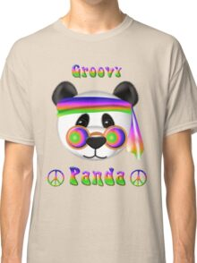 Groovy Panda Bear Psychedelic Classic T-Shirt