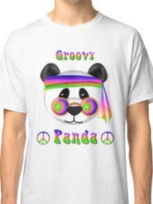 Groovy Panda Bear Psychedelic Classic T-Shirt
