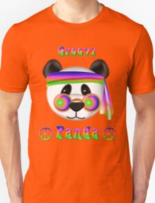 Groovy Panda Bear Psychedelic T-Shirt