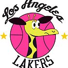Los Angeles Lakers Giraffe Logo from 1961-62 Season! by orsauce