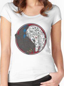 Sci-Fi Yin Yang Red Women's Fitted Scoop T-Shirt