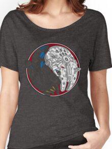 Sci-Fi Yin Yang Red Women's Relaxed Fit T-Shirt