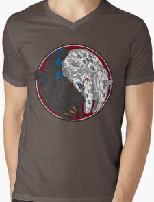 Sci-Fi Yin Yang Red Mens V-Neck T-Shirt