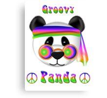 Groovy Panda Bear Psychedelic Canvas Print