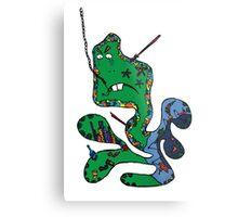 Green squid Metal Print