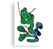 Green squid Canvas Print