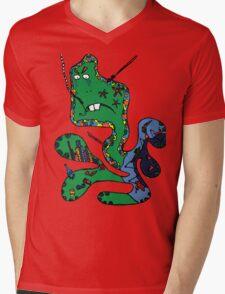 Green squid Mens V-Neck T-Shirt