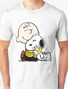 Charlie Brown Loves Snoopy Hug T-Shirt