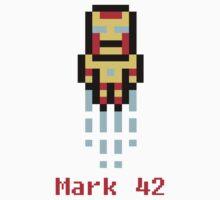 Iron Man Mark 42 8-Bit by browncoatbanner