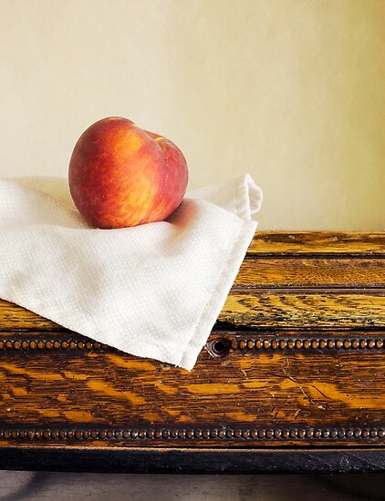 Fresh ripe peach by Edward Fielding