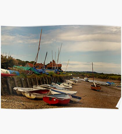 The Harbour (Burnham Overy Staithe) Poster