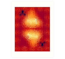 Fire Glass King of Clubs Two Art Print
