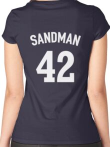The Sandman (Mariano Rivera T-shirt) Women's Fitted Scoop T-Shirt