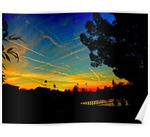 Contrail Sunset In Yuma Poster