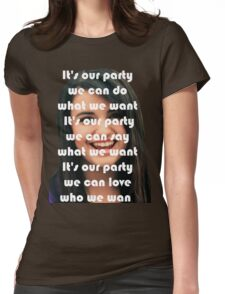 REBECCA BLACK IS BEST REBECCA Womens Fitted T-Shirt