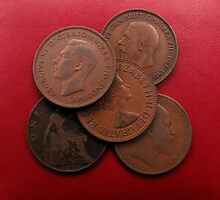 Old Pennies by Neville Hawkins