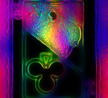 Glass on Double Neon Jack of Clubs by RonMock