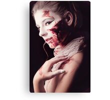 White and Blood I Canvas Print