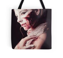 White and Blood I Tote Bag