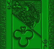 Green Jack of Clubs by RonMock
